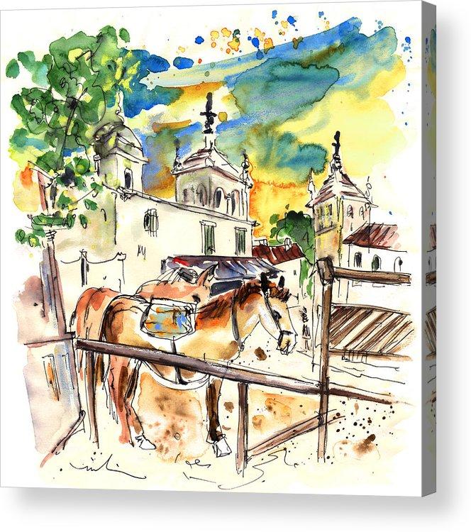 Travel Acrylic Print featuring the painting El Rocio 02 by Miki De Goodaboom