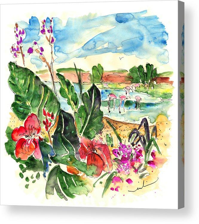Travel Acrylic Print featuring the painting El Rocio 06 by Miki De Goodaboom