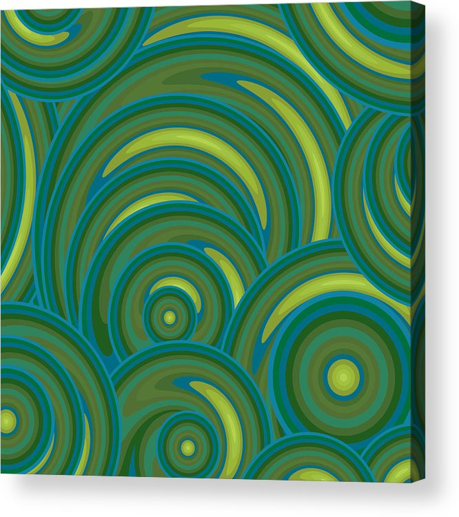 Emerald Green Abstract Acrylic Print featuring the painting Emerald Green Abstract by Frank Tschakert