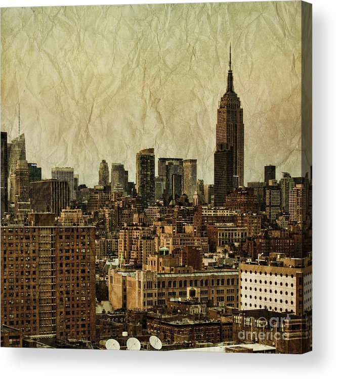 New Acrylic Print featuring the photograph Empire Stories by Andrew Paranavitana