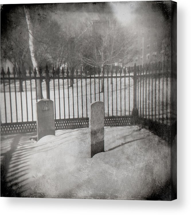 Tombstone Acrylic Print featuring the photograph Face To Face by Jean Macaluso