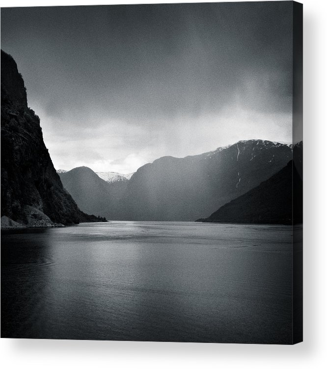Norway Acrylic Print featuring the photograph Fjord Rain by Dave Bowman