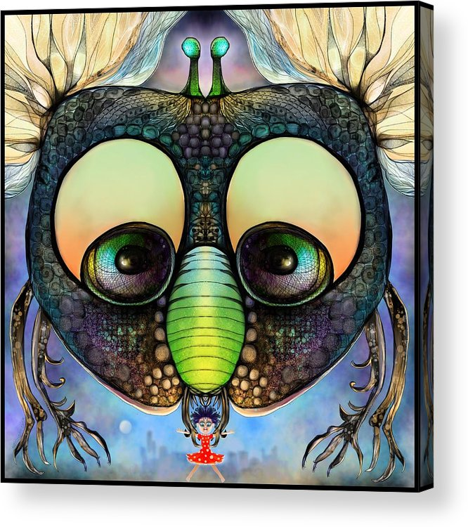 Humor Acrylic Print featuring the digital art Fly Me To The Moon by Mary Eichert