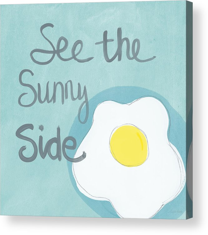 Food Kitchen Art Eggs Sunny Side Up Painting By Linda Woods