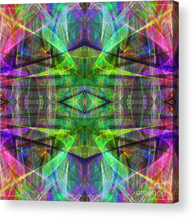 Fractal Acrylic Print featuring the photograph Fourth Dimension Ap130511-22 by Wingsdomain Art and Photography