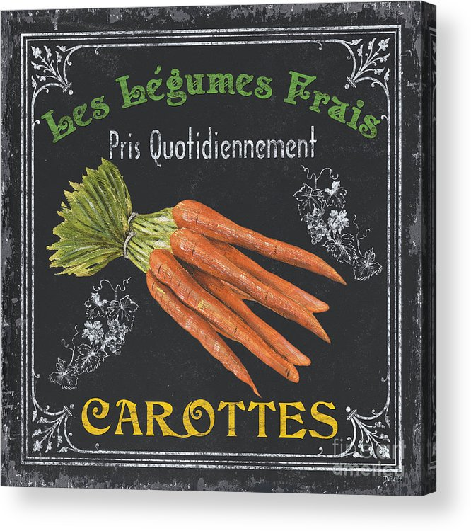 Produce Acrylic Print featuring the painting French Vegetables 4 by Debbie DeWitt