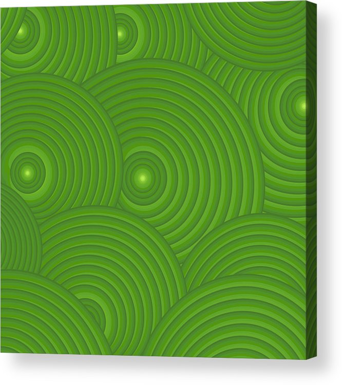 Frank Tschakert Acrylic Print featuring the painting Green Abstract by Frank Tschakert