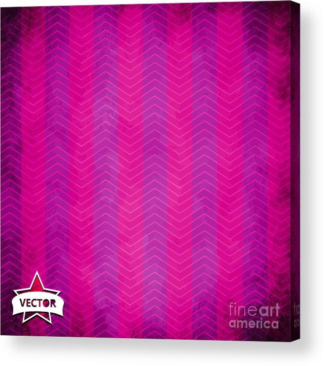 Bright Acrylic Print featuring the digital art Grunge Vector Wallpaper by Horenko