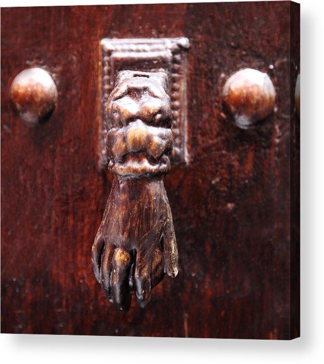 Fatima Hand Photographs Acrylic Print featuring the photograph Handy Door Knocker by David Davies