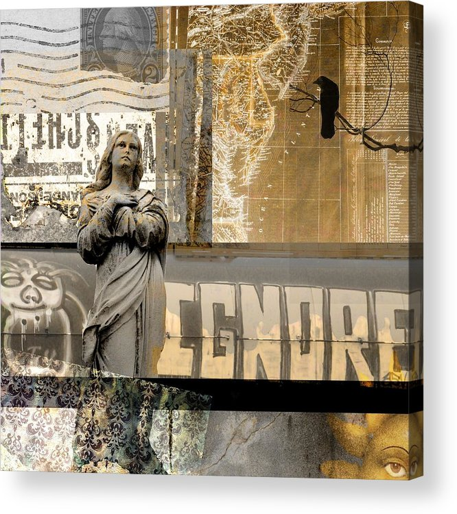 Collage Mix Art Acrylic Print featuring the photograph Ignore by Gothicrow Images