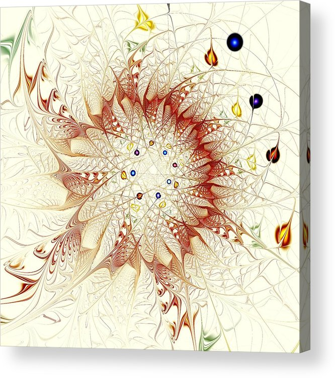 Malakhova Acrylic Print featuring the digital art Juggle by Anastasiya Malakhova