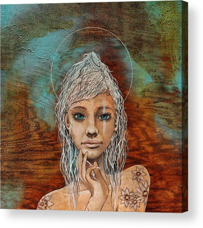 Long Haired Girl Acrylic Print featuring the painting Majestic Girl #1 by Adam Young