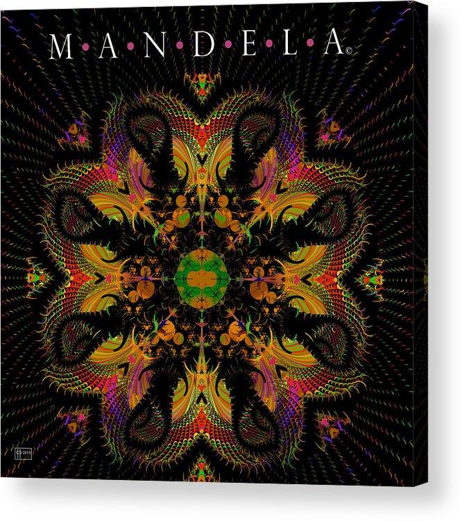 Jim Pavelle Fine Art Acrylic Print featuring the digital art Mandela by Jim Pavelle