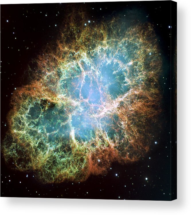 3scape Acrylic Print featuring the photograph Most Detailed Image Of The Crab Nebula by Adam Romanowicz