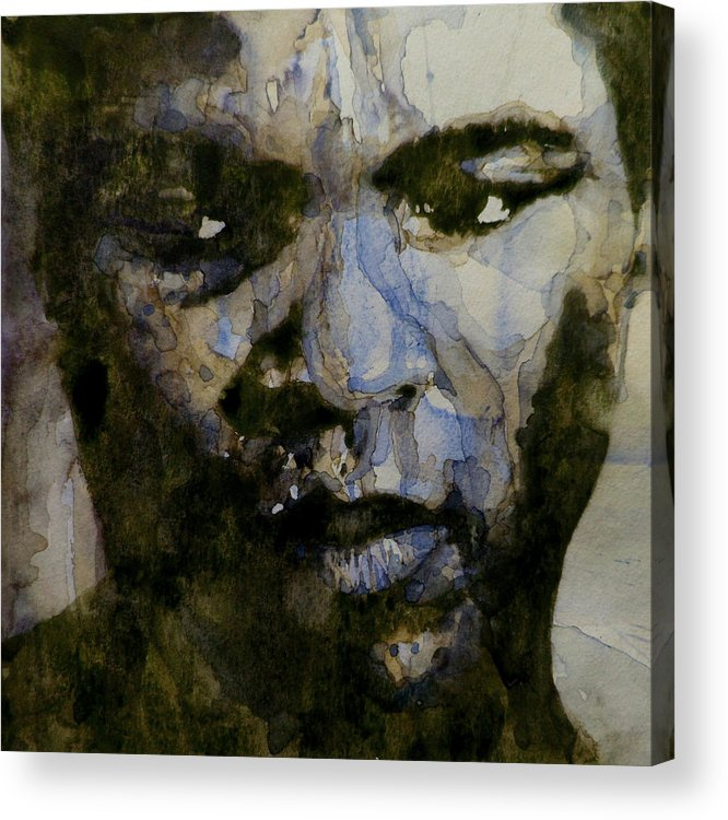 Muhammad Ali Acrylic Print featuring the painting Muhammad Ali A Change Is Gonna Come by Paul Lovering