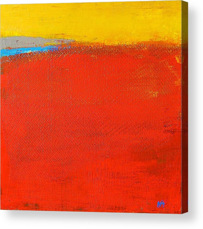 Landscape Acrylic Print featuring the painting Nature Rouge by Habib Ayat