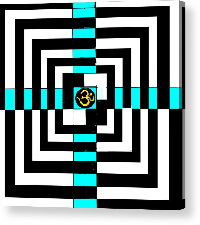 Om Acrylic Print featuring the digital art OM by Anand Swaroop Manchiraju