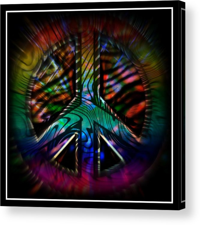 Peace Acrylic Print featuring the mixed media Peace Series 2 by Wendie Busig-Kohn