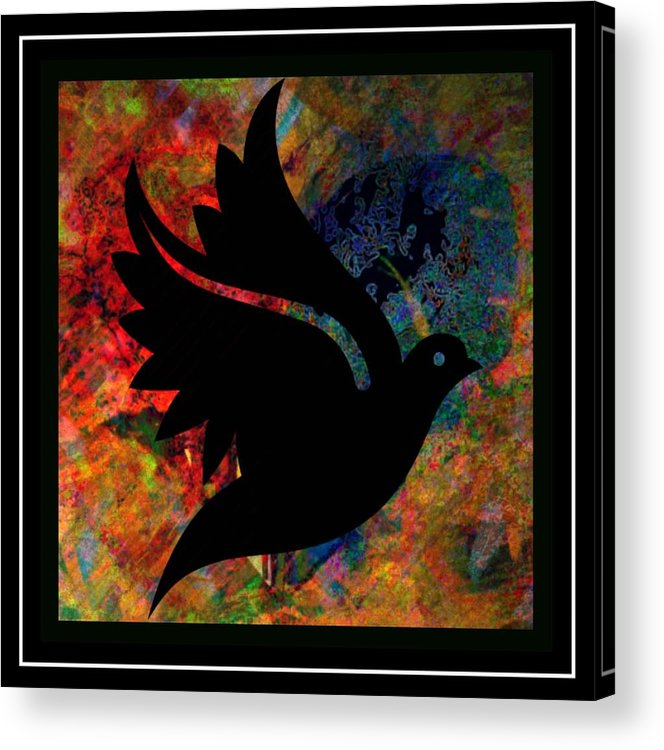 Peace Acrylic Print featuring the mixed media Peace Series Xi by Wendie Busig-Kohn