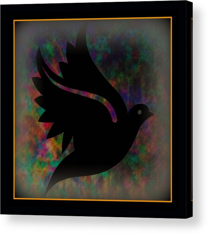 Peace Acrylic Print featuring the mixed media Peace Series Xii by Wendie Busig-Kohn