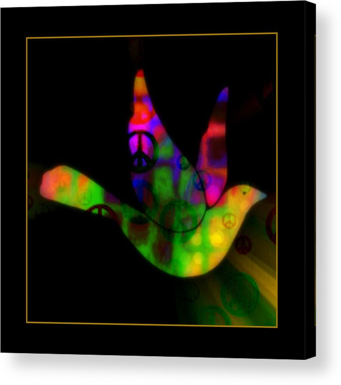 Peace Acrylic Print featuring the mixed media Peace Series Xxviii by Wendie Busig-Kohn