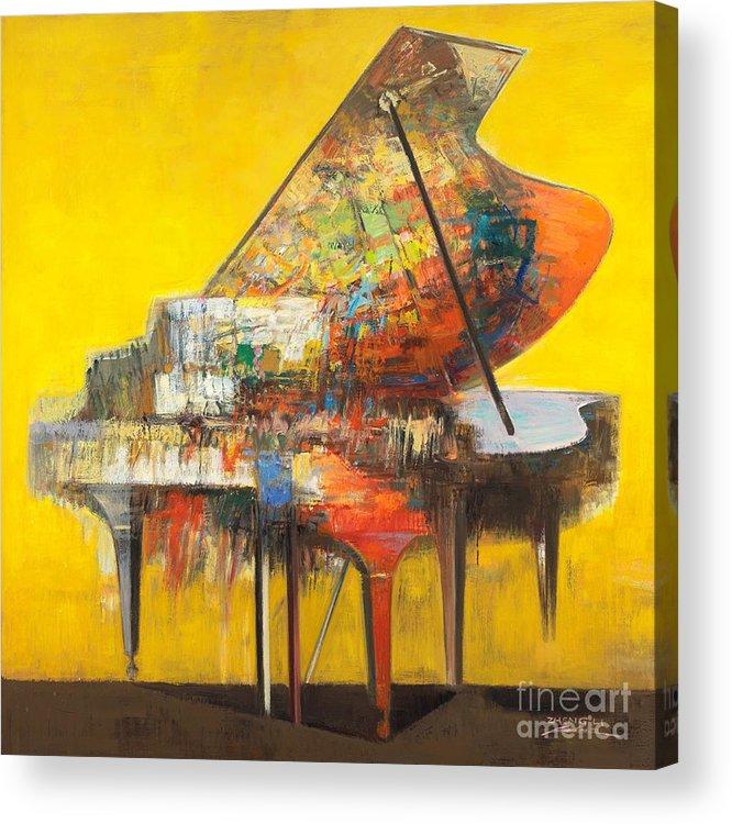 Piano.piano Acrylic Print featuring the painting piano No.19 by Zheng Li