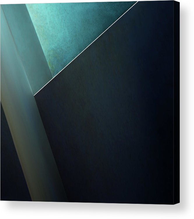 Teal Acrylic Print featuring the photograph Plane by Gilbert Claes