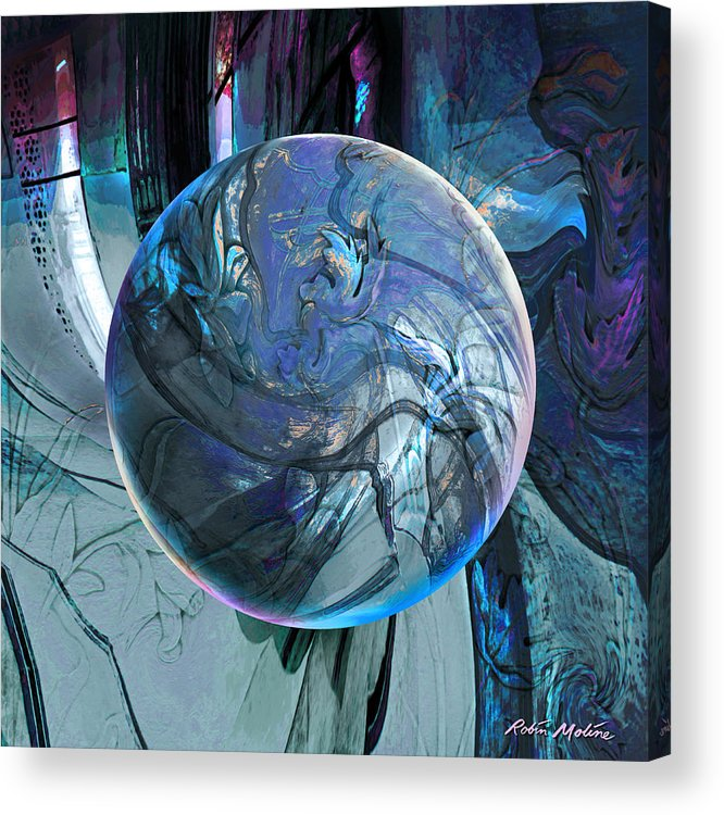 Portals Acrylic Print featuring the digital art Portal To Divinity by Robin Moline