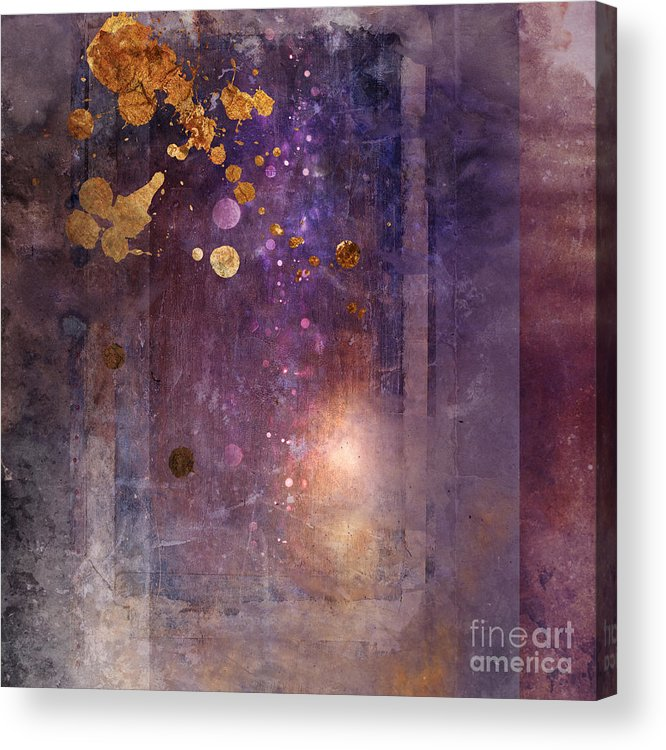 Abstract Acrylic Print featuring the digital art Portal Variant 1 by MGL Meiklejohn Graphics Licensing