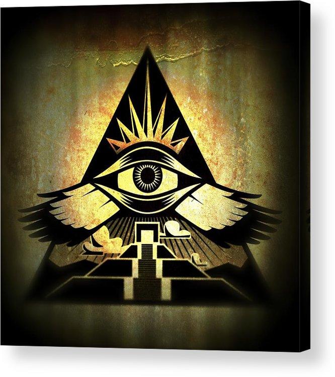Third Eye Acrylic Print featuring the digital art Power Pyramid by Milton Thompson