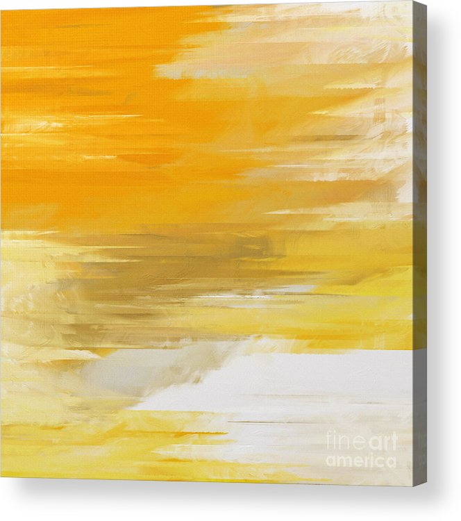 Abstract Acrylic Print featuring the digital art Precious Metals Abstract by Andee Design