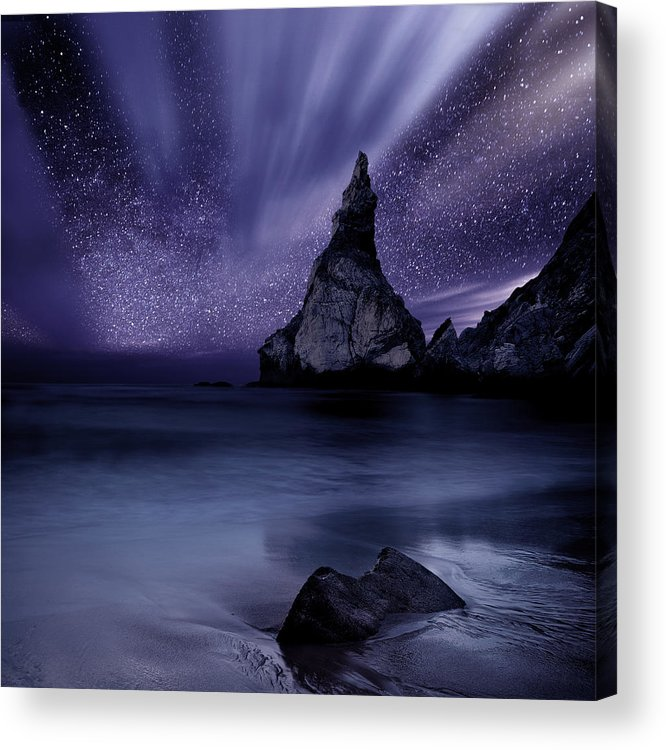 Night Acrylic Print featuring the photograph Prelude To Divinity by Jorge Maia