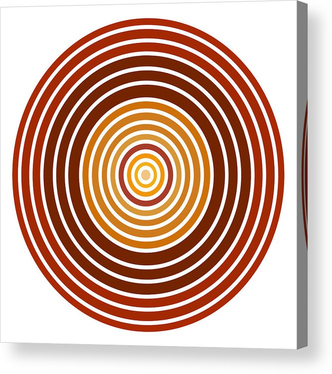 Red Acrylic Print featuring the painting Red Abstract Circle by Frank Tschakert