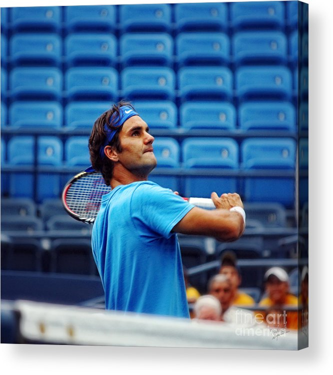 Roger Federer Acrylic Print featuring the photograph Roger Federer by Nishanth Gopinathan