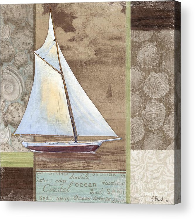 Peace Acrylic Print featuring the painting Santa Rosa Boat II by Paul Brent