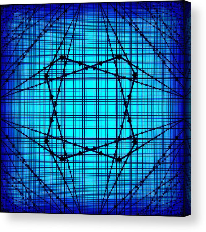 Blue Lines Acrylic Print featuring the photograph Shades 14 by Mike McGlothlen