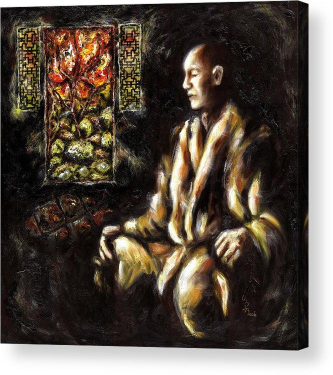 Zen Acrylic Print featuring the painting Silence by Hiroko Sakai