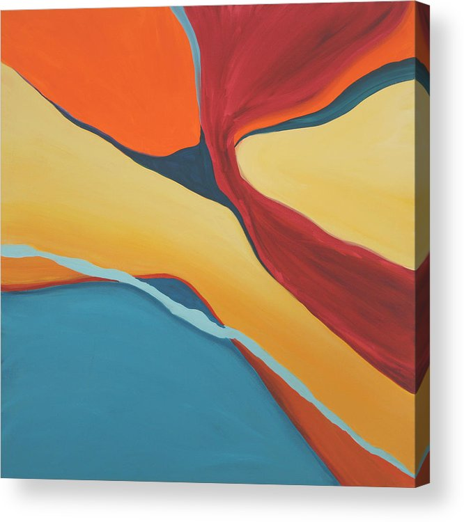 Abstract Acrylic Print featuring the painting Soaring by Marilyn Fenn