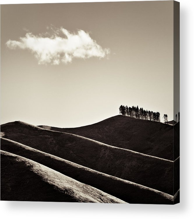New Zealand Acrylic Print featuring the photograph Solitary Cloud by Dave Bowman