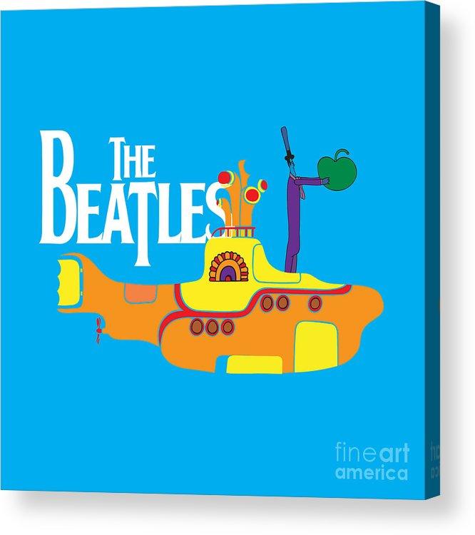 Artwork Acrylic Print featuring the digital art The Beatles No.11 by Caio Caldas