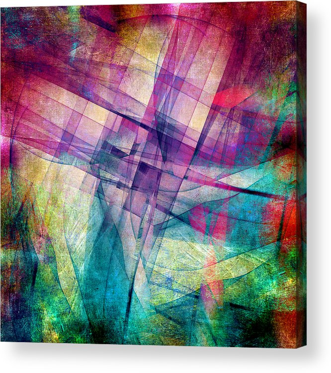 Buildings Block Acrylic Print featuring the digital art The Building Blocks by Angelina Vick