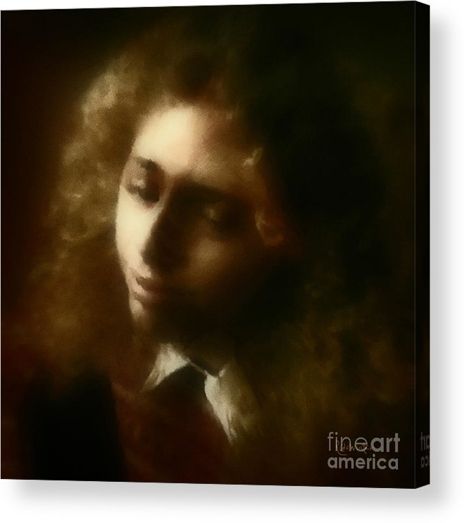 Girl Acrylic Print featuring the painting The Daydream by RC DeWinter