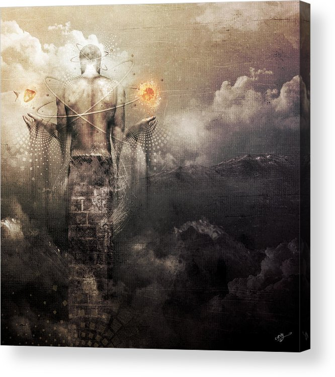Spiritual Acrylic Print featuring the digital art The Drum by Cameron Gray