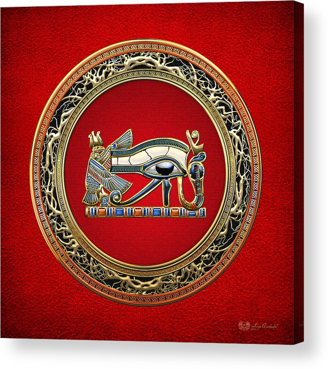 'treasure Trove' Collection By Serge Averbukh Acrylic Print featuring the digital art The Eye Of Horus by Serge Averbukh