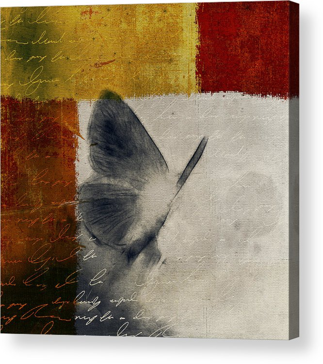 Butterfly Acrylic Print featuring the digital art The Giant Butterfly And The Moon - S09-22cbrt by Variance Collections
