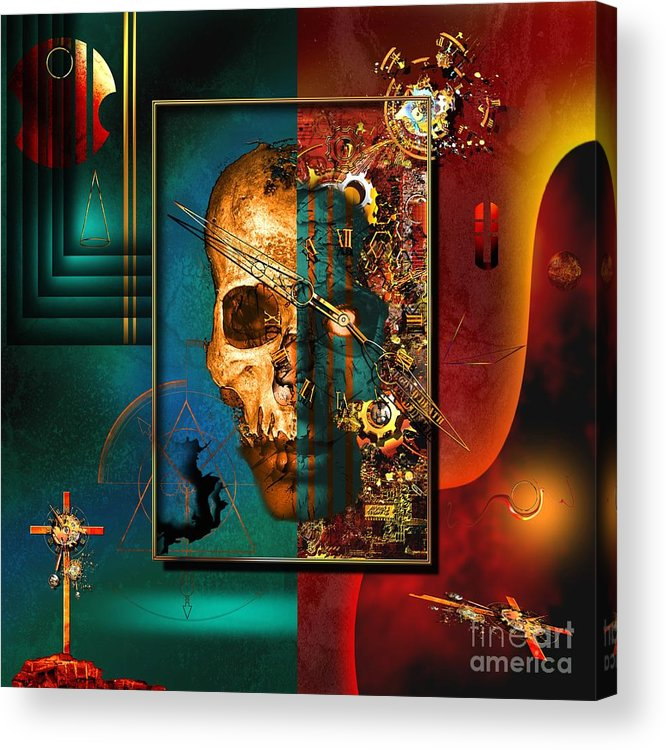 Highly Imaginative Acrylic Print featuring the digital art The Inconceivability Of The Being by Franziskus Pfleghart