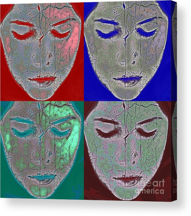 Abstract Acrylic Print featuring the photograph The Mask by Stelios Kleanthous