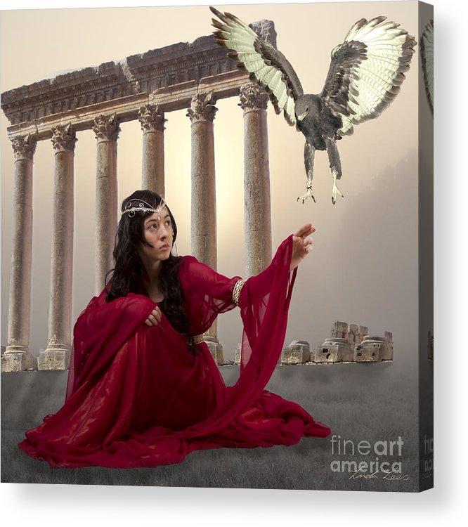 Fantasy Acrylic Print featuring the digital art The Message Bearer by Linda Lees