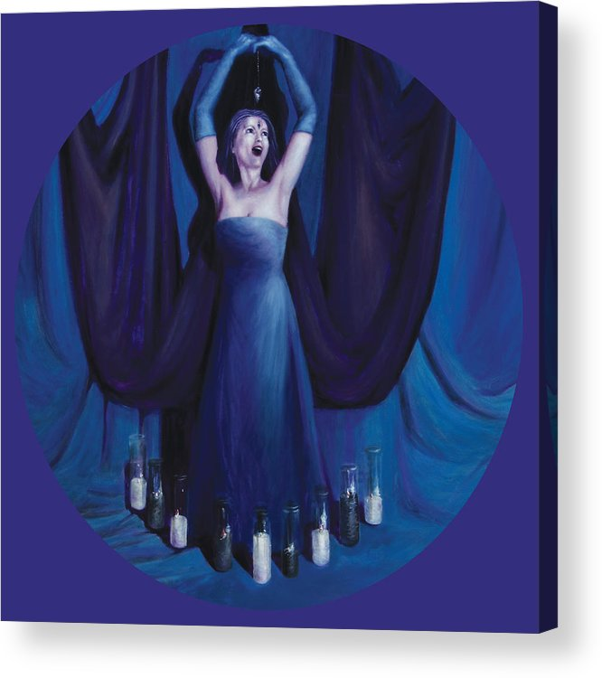 Shelley Irish Acrylic Print featuring the painting The Seer by Shelley Irish
