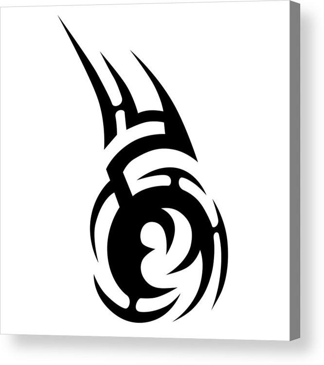 bb90bed87 Gothic Style Acrylic Print featuring the drawing Tribal Tattoo Vector Design  Sketch. Sleeve Art Pattern
